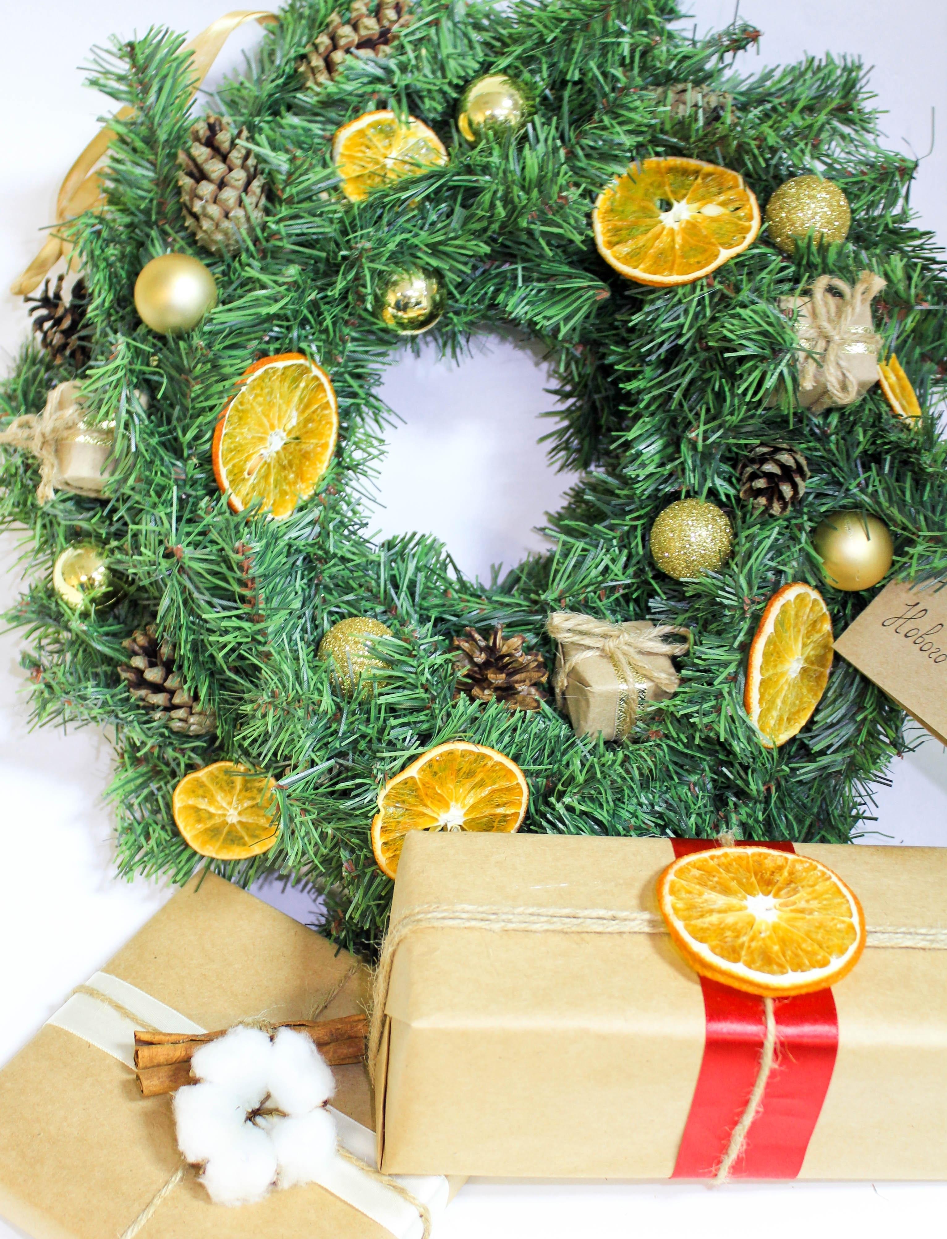 Фирменный рождественский венок от Аромат Кофе сделанный вручную Ольгой Ларичевой