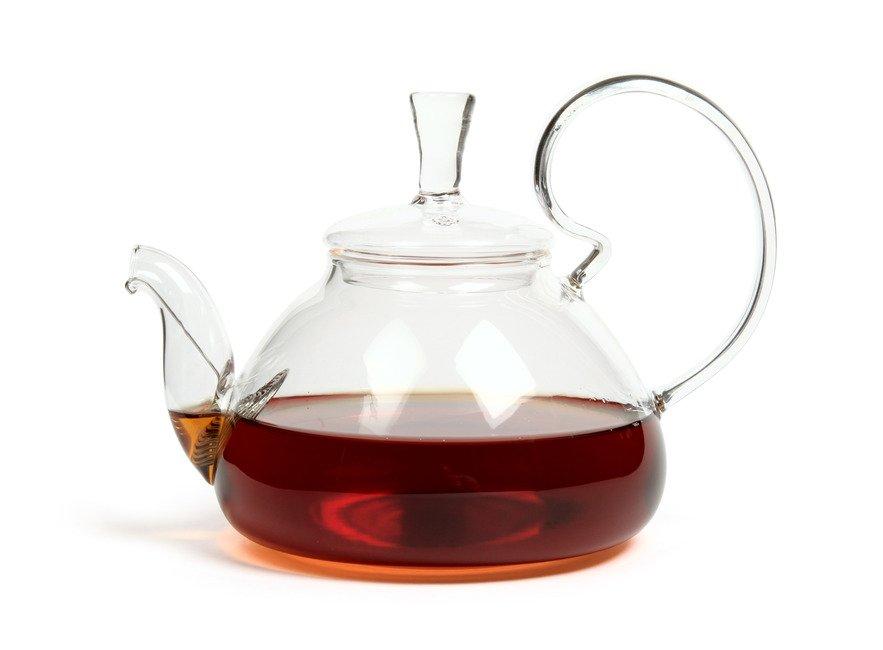 Стеклянный чайник Клюква Slon