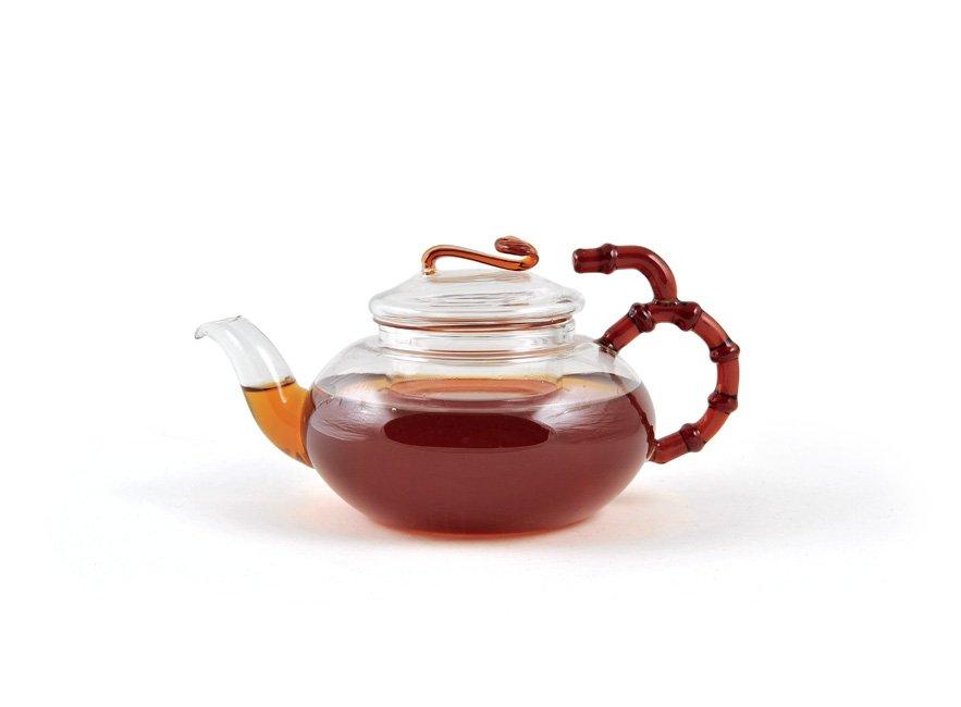 Стеклянный чайник Бамбук Slon