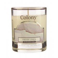 Свеча ароматическая в стеклянном стакане Свежий лен Wax Lyrical