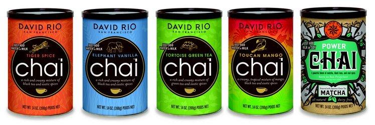 Пряный чай-латте David Rio набор из 5 разных вкусов