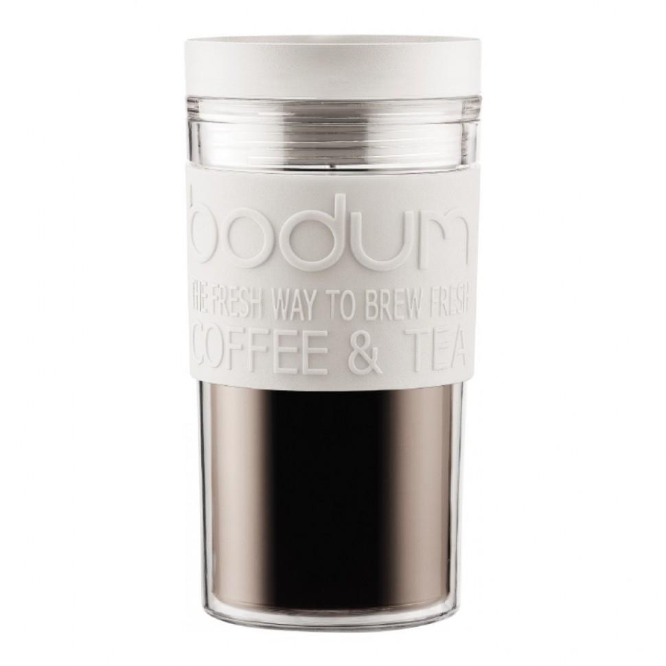 Кружка дорожная BODUM Travel (белая, 350 мл)