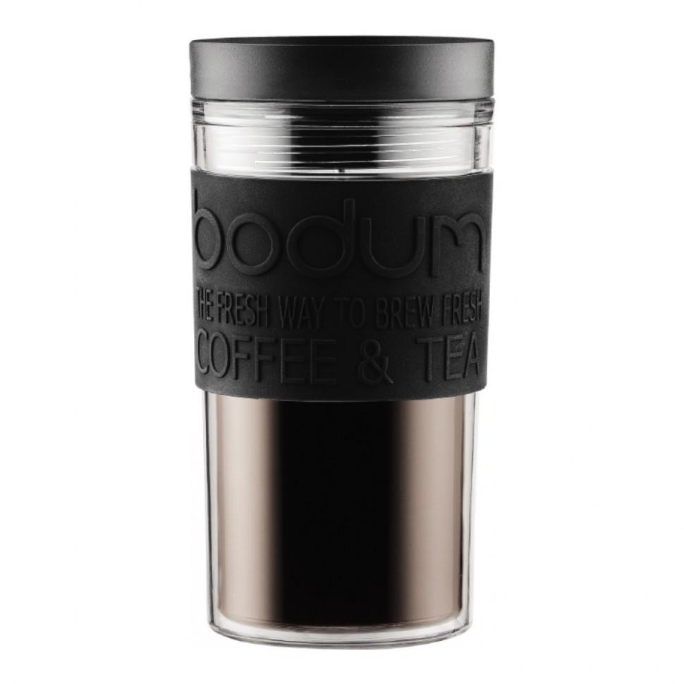 Кружка дорожная BODUM Travel (черная, 350 мл)