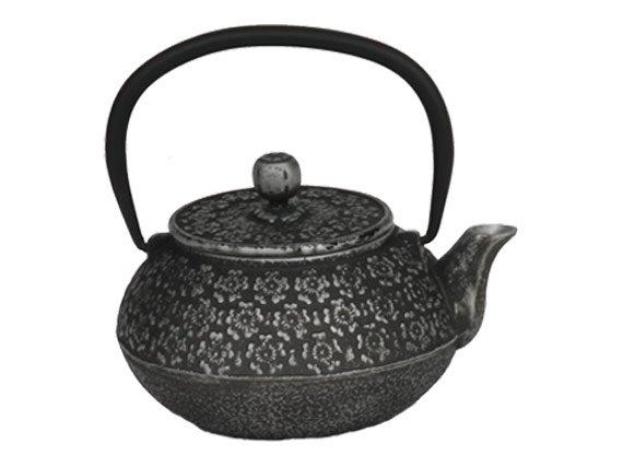 Чайник чугунный с ситом Кенжу РЧК (серебро)