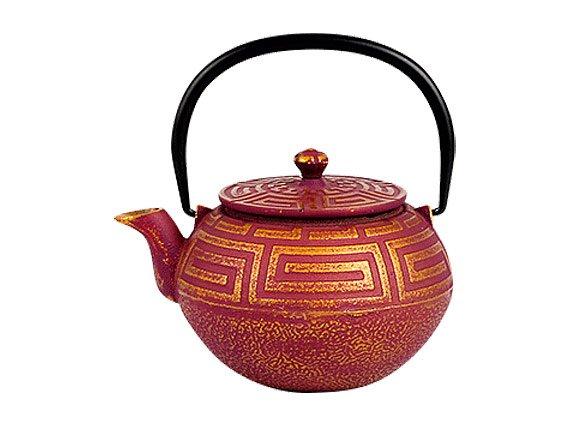 Чайник чугунный с ситом Золотой лабиринт РЧК