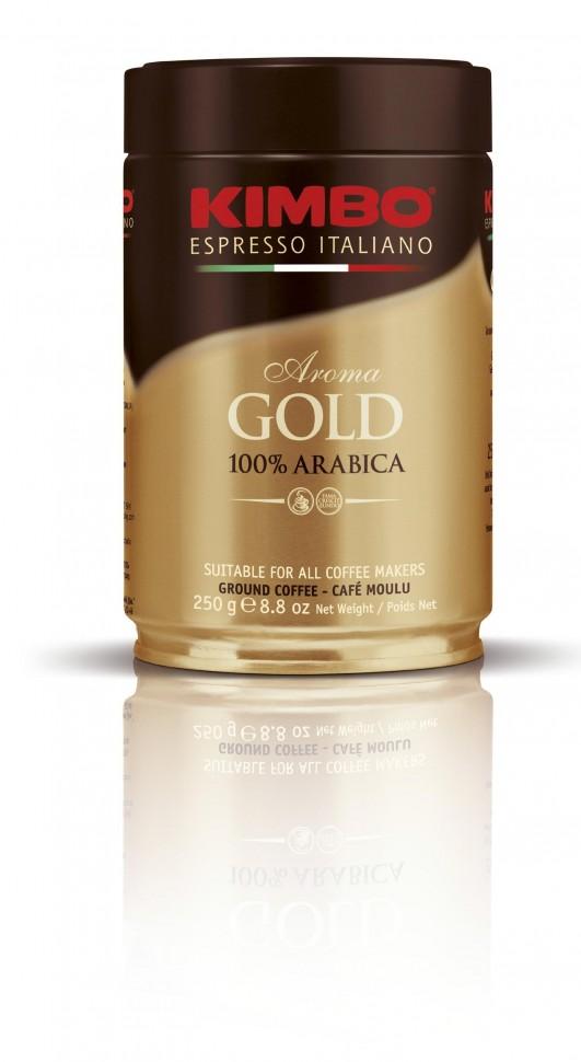 Кофе молотый в банке Kimbo Gold