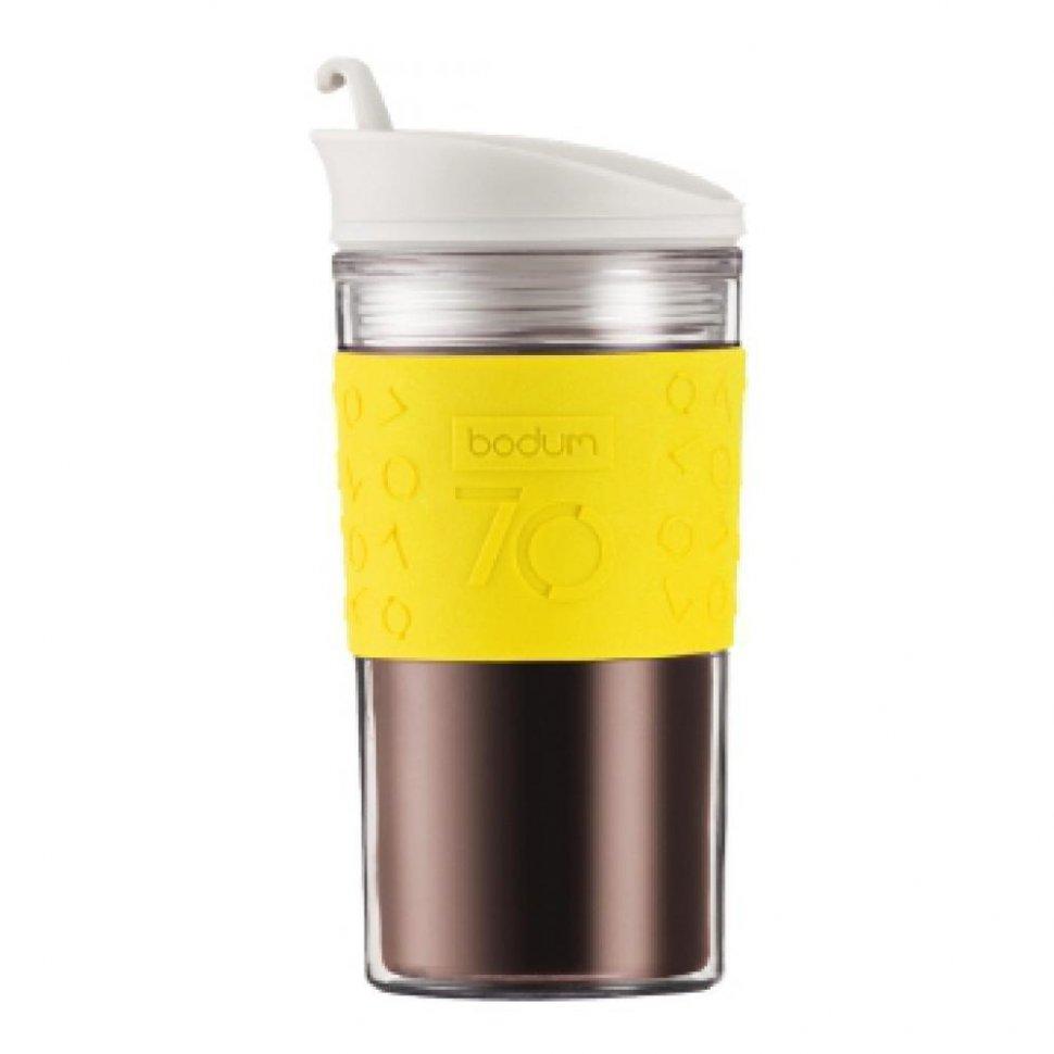 Кружка дорожная Bodum Travel Mug (желтый, 350 мл)