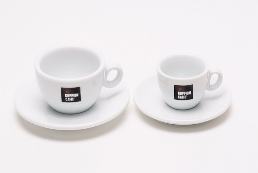 Чашка с блюдцем Goppion Caffe (белый, 65 мл)