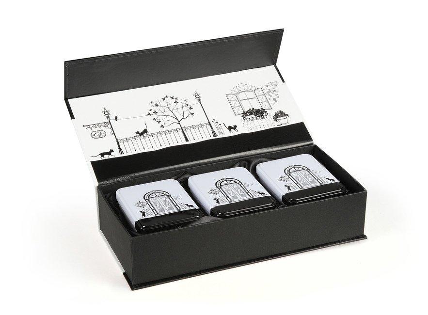 Подарочная коробка на 3 банки Париж