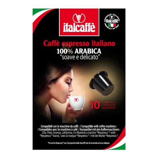 Кофейные капсулы Italcaffe 100% Arabica для Nespresso