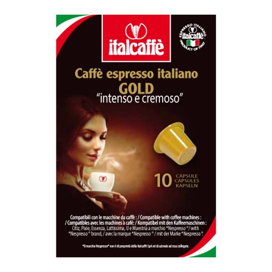 Кофейные капсулы Italcaffe Espresso Gold для Nespresso